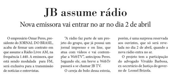 rádio jb