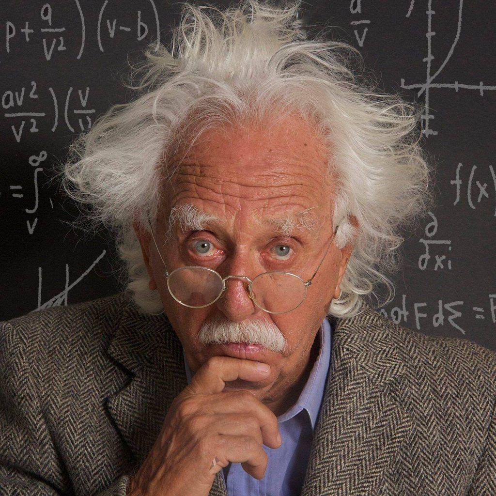 O produtor Zé Nogueira como Einstein - Foto: Reprodução/Facebook