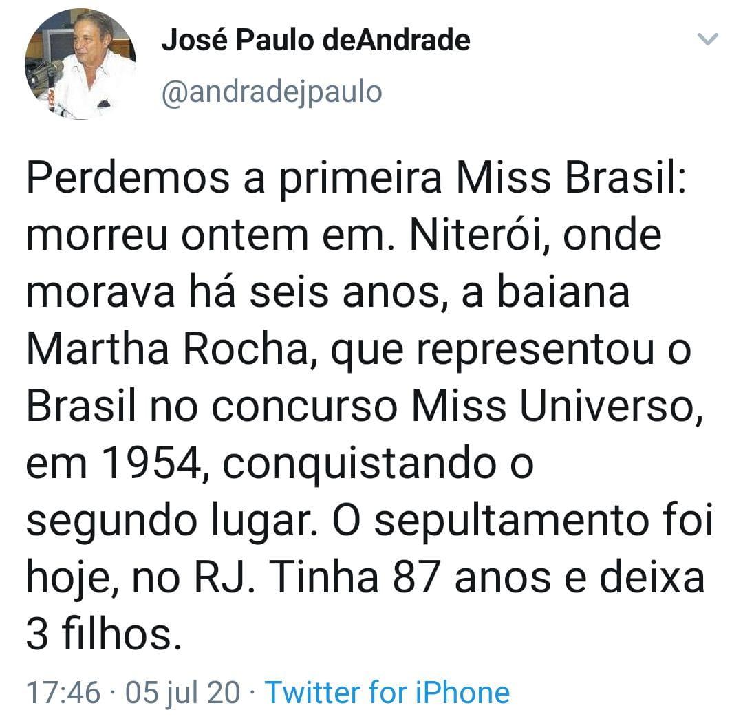 José Paulo de Andrade Martha Rocha